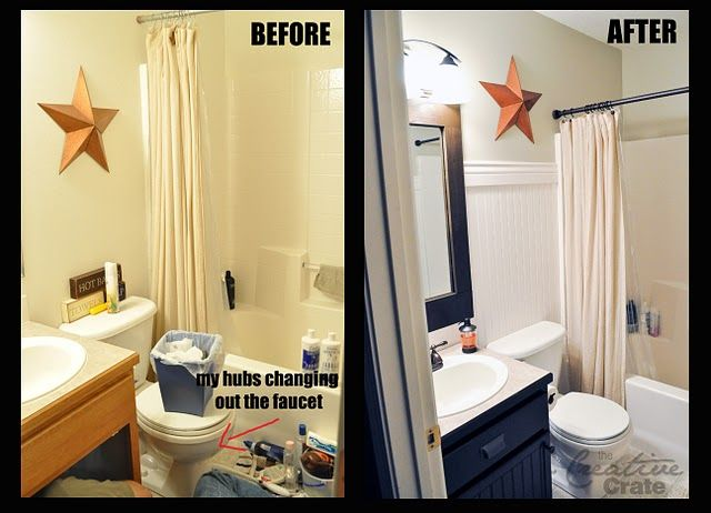 awesome bathroom makeoverfor really cheap