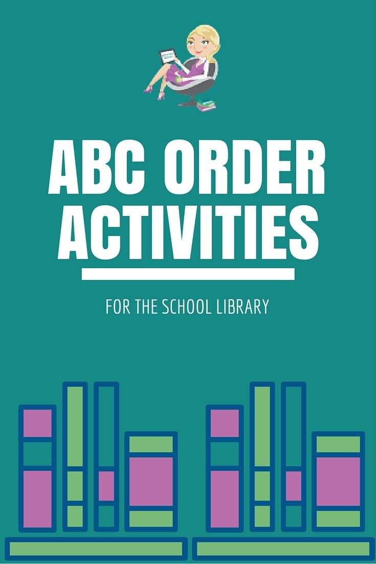 Check out these free ABC Order activities for the school library! Kindergarten and 1st Grade Activities ABC Order Cards from…