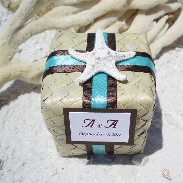 Unique Wedding Favor Box For A Tropical Or Beach Theme Wedding Perfect For Destination Or