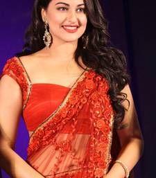 Buy Sonakshi Sinha Bollywood Replica Net Red party wear designer Saree sonakshi-sinha-saree online