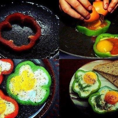 paprika eitjes lunch ontbijt