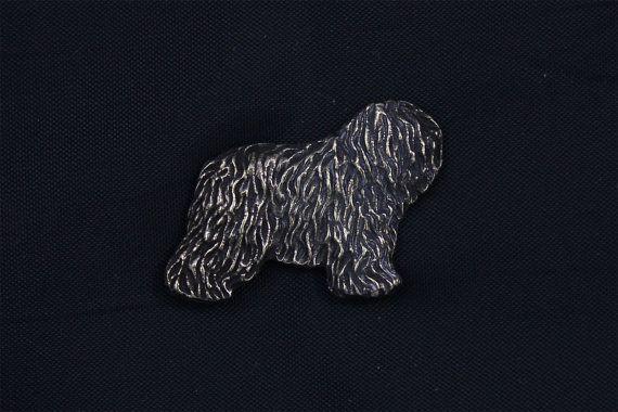 Polish Lowland Sheepdog dark dog pin limited by ArtDogshopcenter