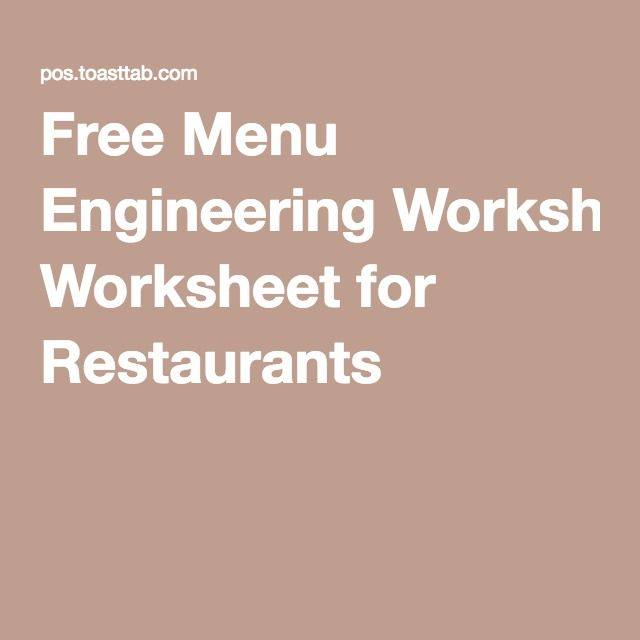 11 best restaurant resources images on pinterest economics a menu engineering worksheet designed to provide insights into your menus strengthweakness items with the highest profitability and items to pull fandeluxe Choice Image