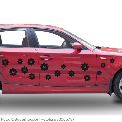 Autoaufkleber Blumen - 10er Set - Motiv 07