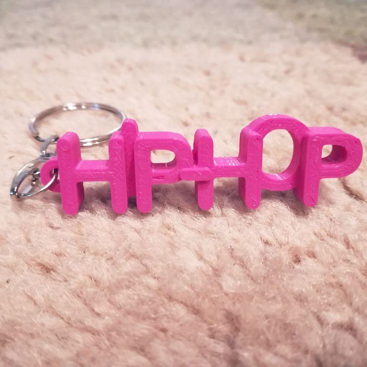 3D printed letter keyring personalised for HIP-HOP lovers.  #3dprints #3dprinted #keychain #keyring #kulcstartó #hiphop