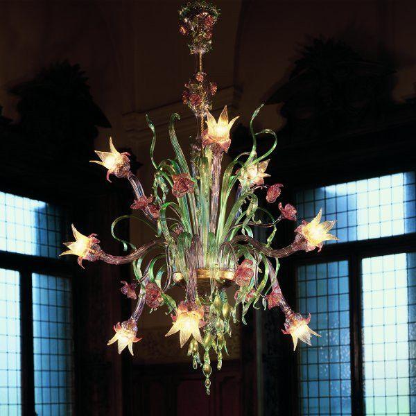 Phantasievoller Leuchter Aus #Muranoglas Von #deMajo