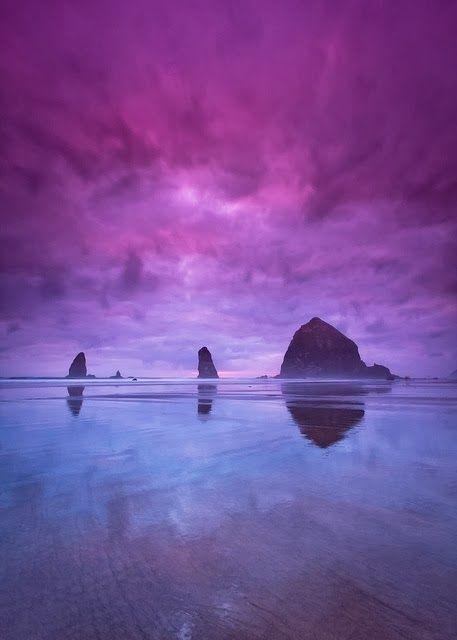 Cannon Beach, Oregon. More scenic Oregon landscapes http://scenic-calendars.com/oregon-calendars.htm
