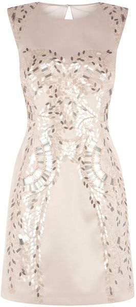 Karen Millen Pink Metallic Sequin Dress