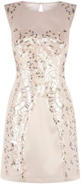 KAREN MILLEN Metallic Sequin Dress - Lyst