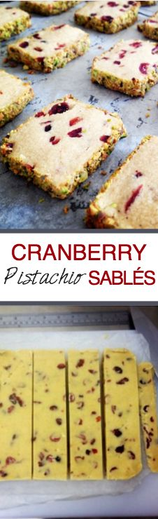 Cranberry Pistachio Sables | Recipes From A Pantry