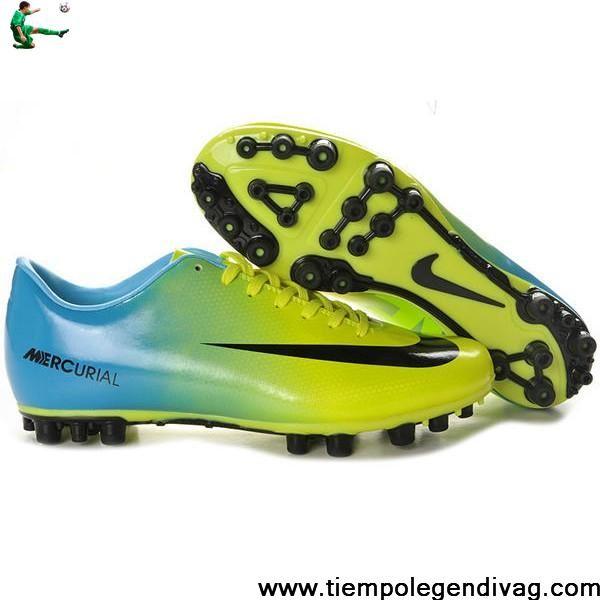 Buy Discount Nike Mercurial Vapor IX AG Shoes Green Black Blue Soccer Boots For Sale