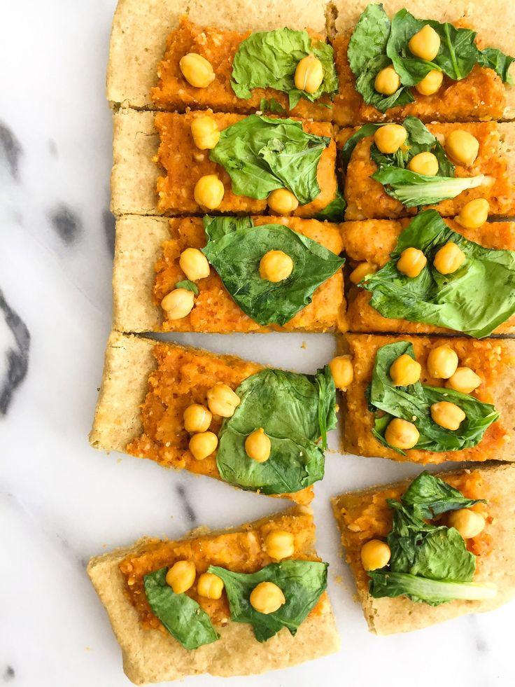 Veggie-Loaded Butternut Squash Pesto Pizza (vegan & grain-free)