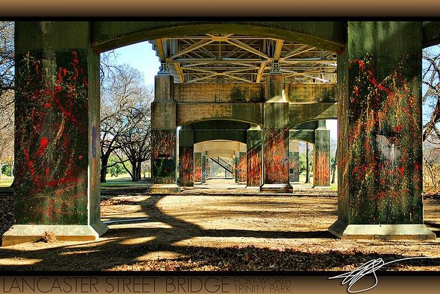 Lancaster Street Bridge (Trinity Park) by The Chicken Works, via Flickr