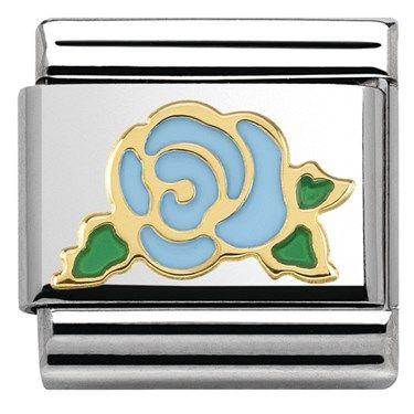 Nomination Blue Rose Charm | Argento.co.uk