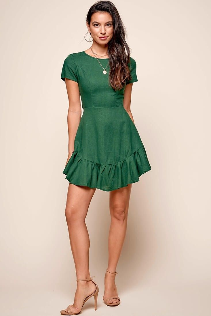 6e4dcf87588d0c Meilani A-line Empire Dress Forest Green in 2019 | More Clothes ...