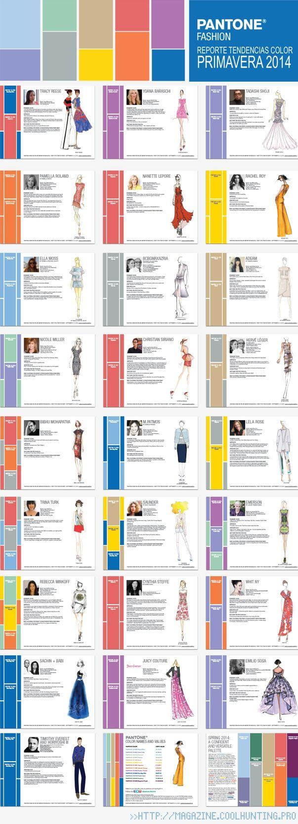Tendencias color MODA TEMPORADA PRIMAVERA - VERANO 2014 >> http://magazine.coolhunting.pro/tendencias/los-colores-tendencia-para-la-primavera-2014/