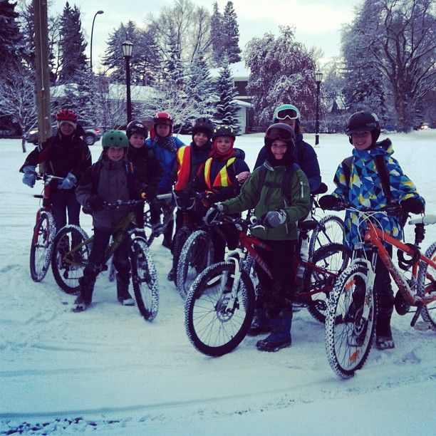 For kids, riding bikes to school through winter is fun. Parents see somethingbigger.