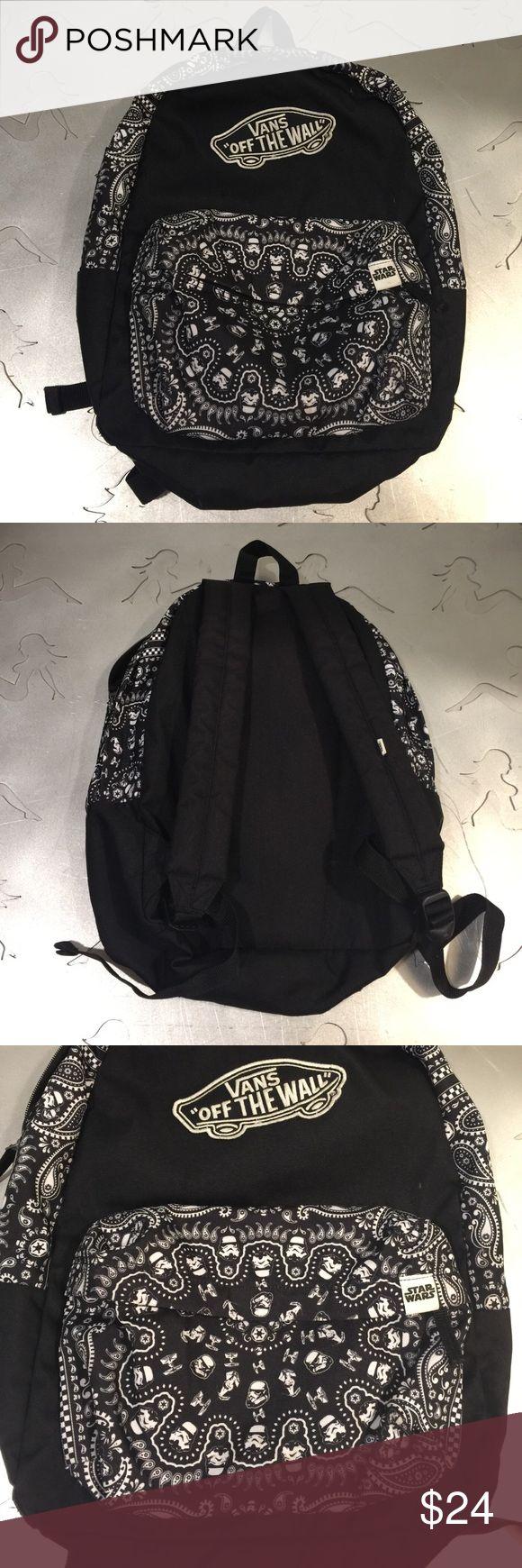 VANS BACKPACK STAR WARS COLLABORATION. Black vans backpack in good condition. Star Wars print. Vans Bags Backpacks