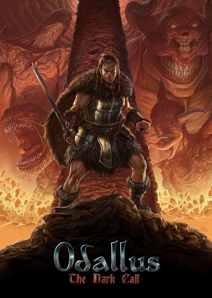 Odallus Cover The darkest, Artwork, Cover art