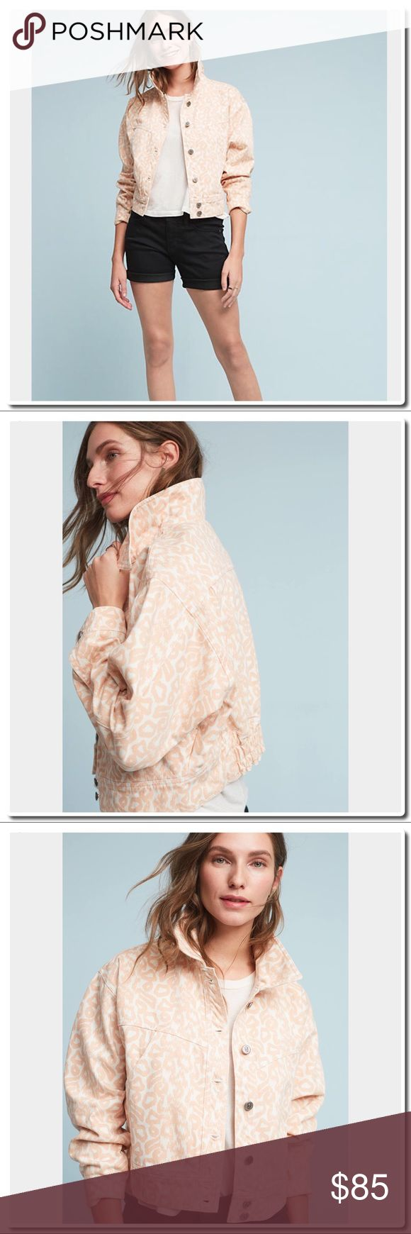 Anthropologie Pilcro Printed Trucker Jacket The classic trucker silhouette gets a warm weather update in this spring-ready print. An Anthropologie-exclusive from Pilcro.  Cotton Slant pockets Button front Machine wash Turkey Anthropologie Jackets & Coats