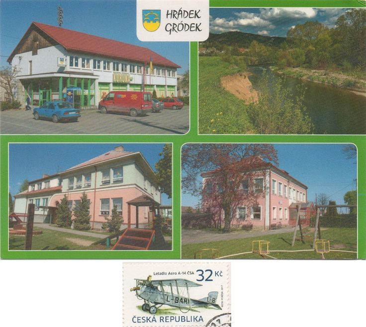 CZ-1255023 - Arrived: 2017.09.28   ---   Hrádek  is a village in Frýdek-Místek District, Moravian-Silesian Region of the Czech Republic, on the Olza River. The village lies between the mountain ranges of the Silesian Beskids and the Moravian-Silesian Beskids, in the historical region of Cieszyn Silesia.