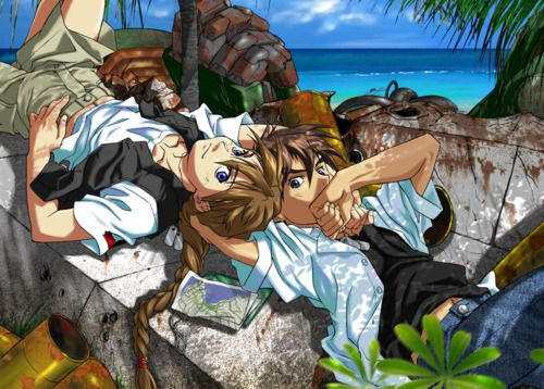 Gundam Wing ~~ Two teenaged warriors just relaxing on a tropical island. Alone. With no baddies to fight. Alone. Slightly bored with young, easily excited male bodies. Alone. Hmmm.... :: Duo Maxwell and Heero Yuy
