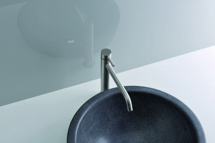 bathroom taps - stainless steel - PIX - Steel Line - Cristina Rubinetterie - Italy