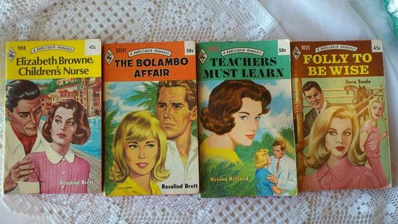 1960s Harlequin Romance Novels Lot of Four