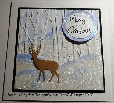Handmade Christmas card by Jan Morcombe.