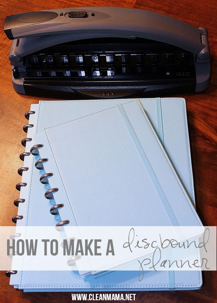 How to Make a Discbound Planner and a $50 Staples GC!  via Clean Mama
