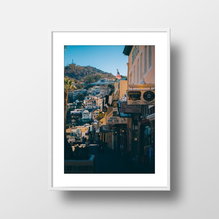"""Downtown Avalon"" Print by Ian Harrington, 18x24"" on thick, archival, matte poster paper. Captured in Avalon, Catalina Island, CA"