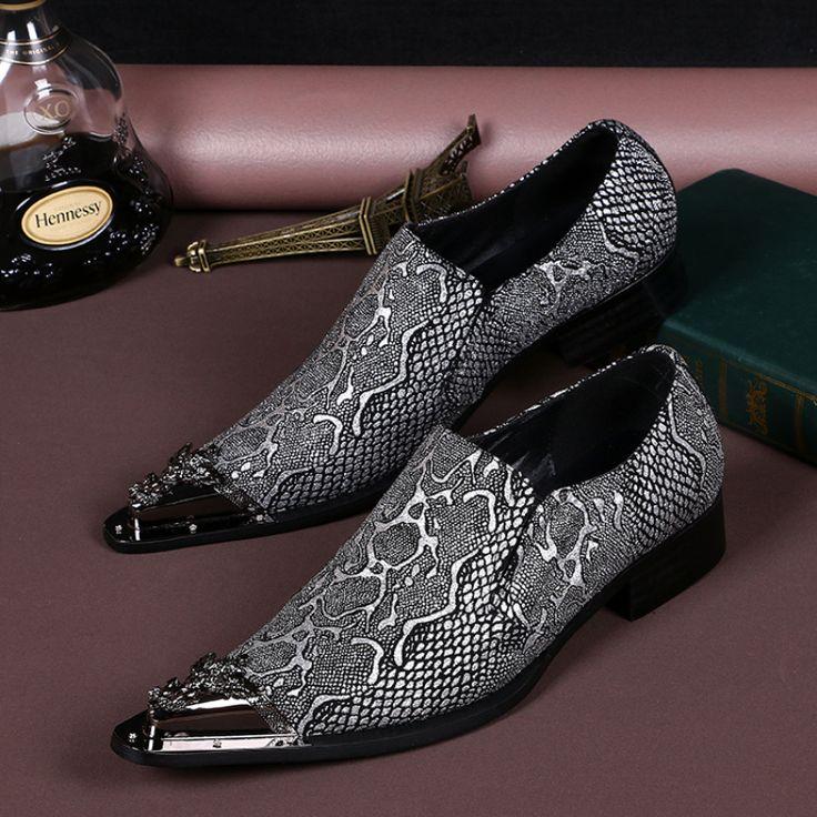 Christia Bella Brand Italian Men Shoes Genuine Leather Pointed Toe Men Dress Shoes Business Formal Shoes Fashion Men's Flats