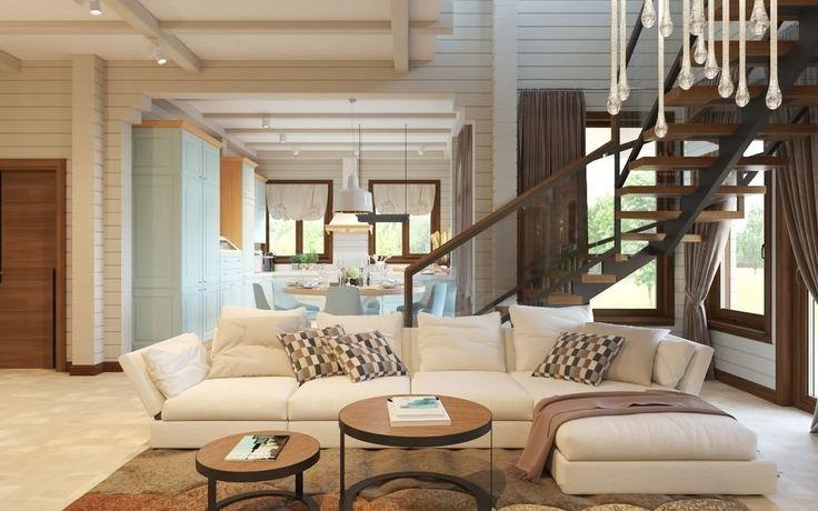 Дизайн дома из клееного бруса: проект в Тульской области   Свежие идеи дизайна интерьеров, декора, архитектуры на InMyRoom.ru