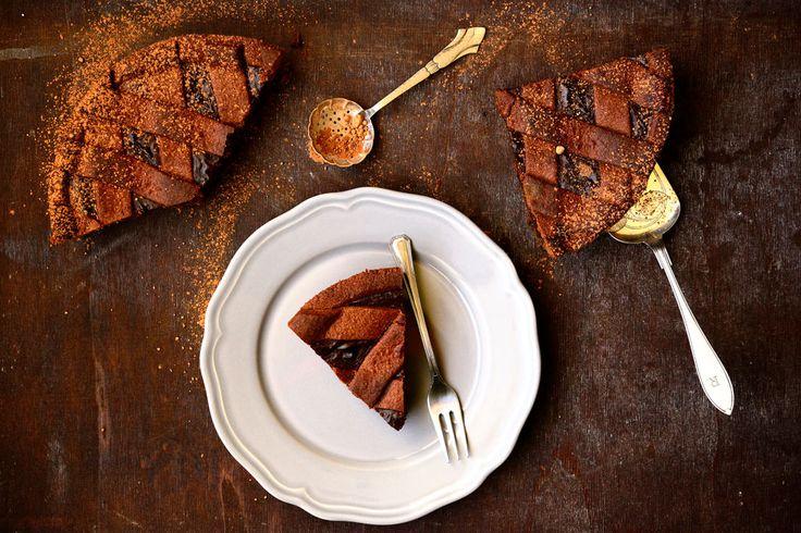 crostata, cioccolato