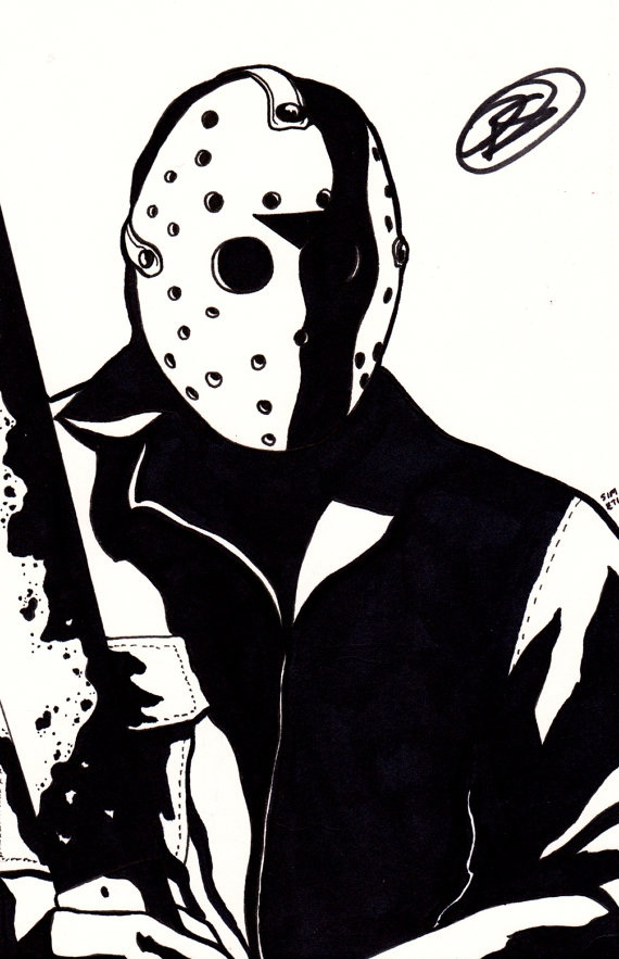 JASON VOORHEES Friday the 13th original art by Peter ...