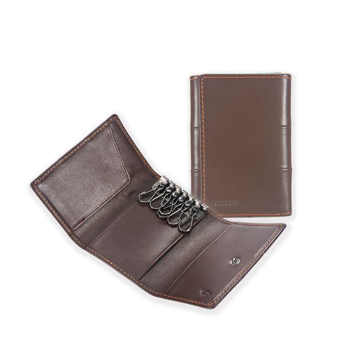 13 Tri-fold Key Wallet _ Plum