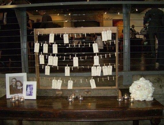 Rustic Escort Card Holder For Farm Beach Or Vintage Themed Wedding