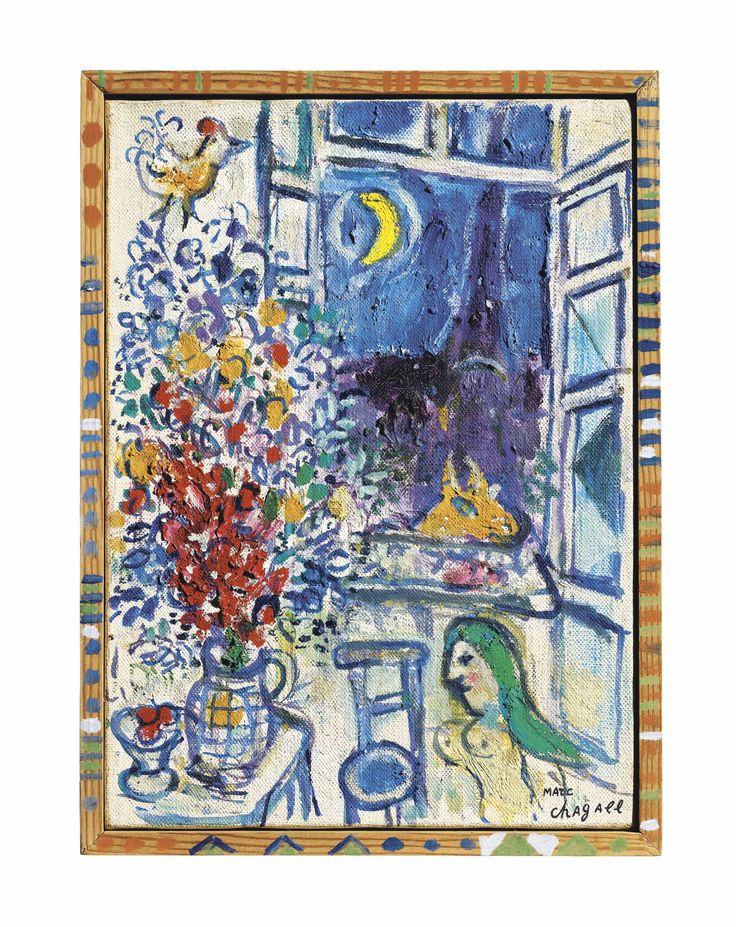 Marc Chagall (1887-1985) Fenêtre ouverte sur Paris Estimate GBP 225,000 - GBP 325,000 (USD 286,875 - USD 414,375)