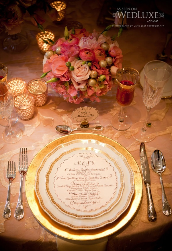 Love This Menu Card The Dinner Party Wedding