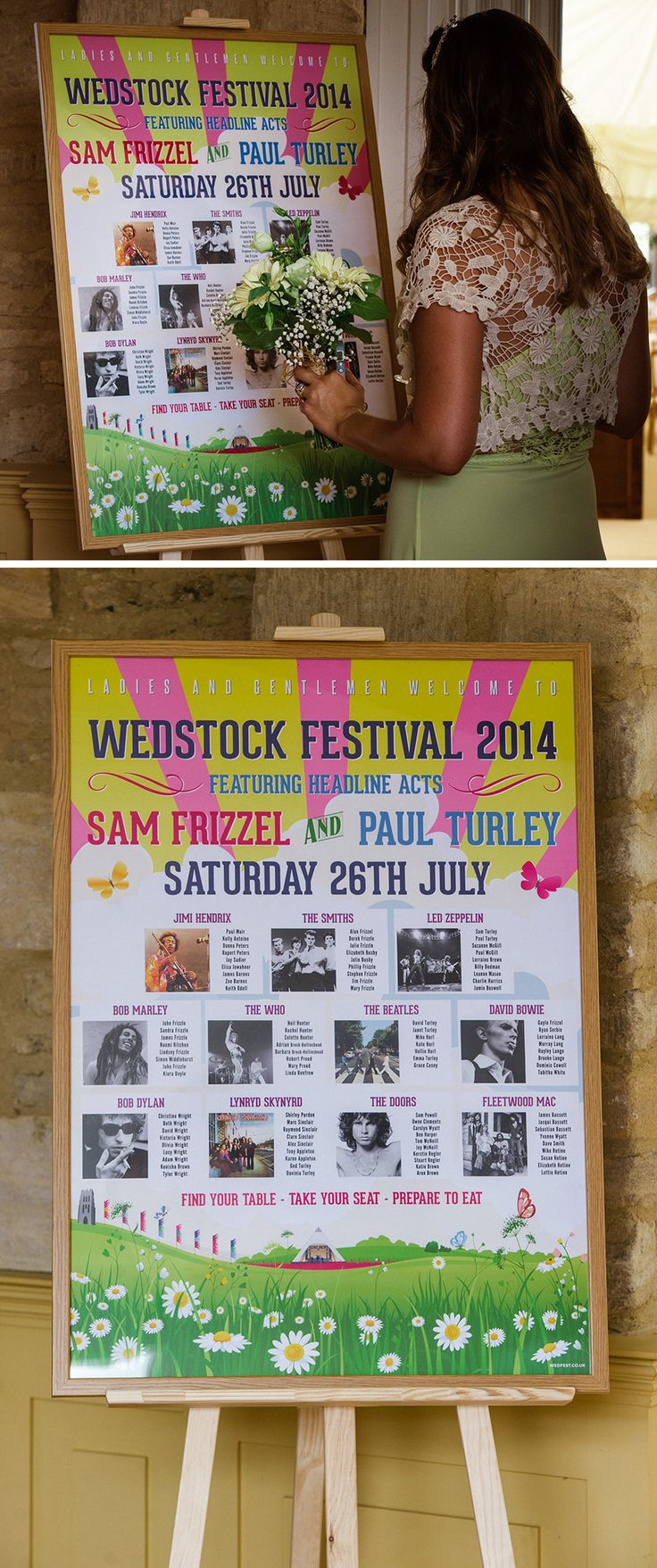 wedstock festival wedding table plan http://www.wedfest.co/sam-pauls-wedstock-music-festival-wedding/