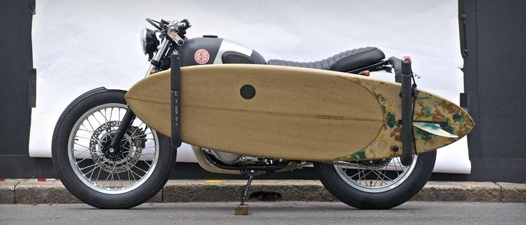 Find out more about the new Deus Ex Machina motorcycle called the Red Pill, a true naked bike that can transport a surfboard.