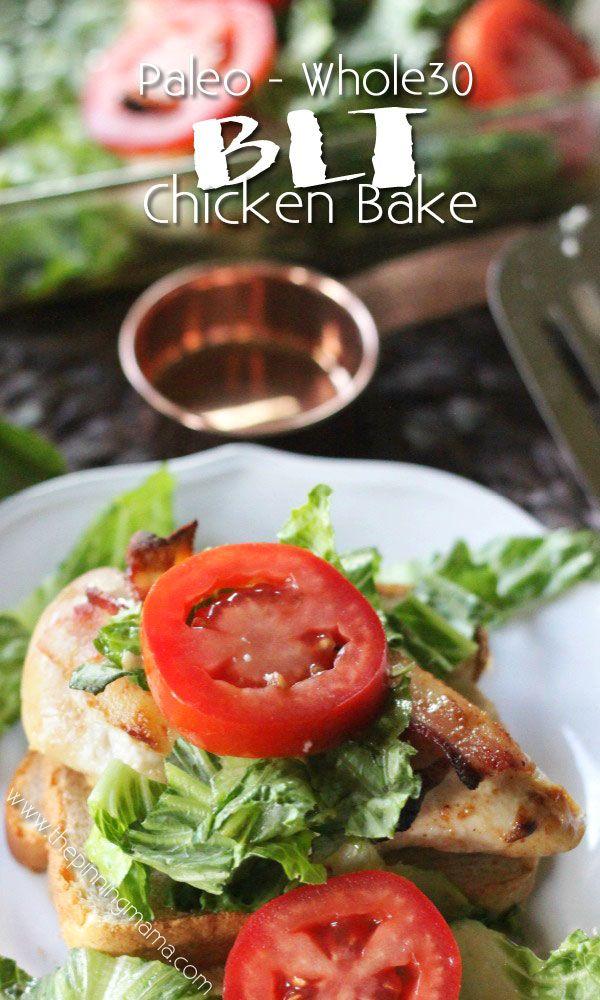 Quick + Easy + Healthy = Best dinner recipe EVER!!! BLT Chicken Bake Recipe…