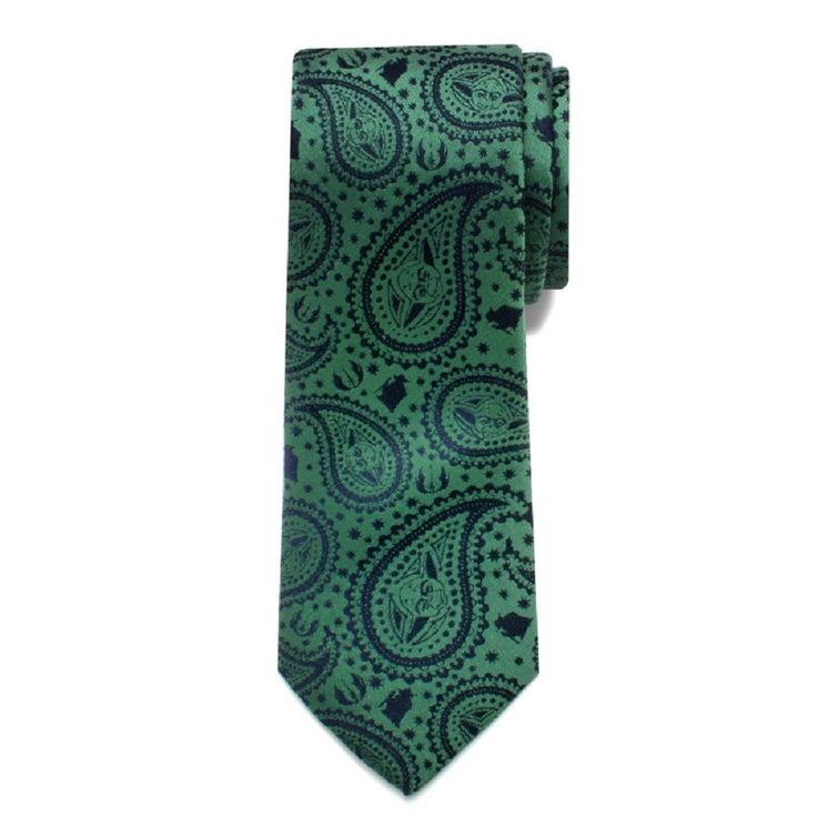 Yoda Boys NECK TIE Paisley Star Wars Ages 6-12 100% SILK
