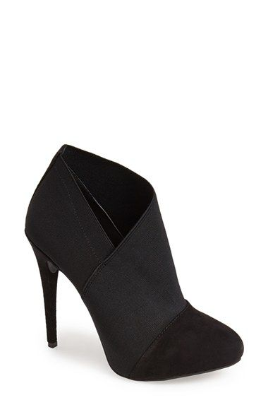 Free shipping and returns on Jessica Simpson 'Neesha' Stiletto Bootie (Women) at Nordstrom.com. Rise to any style occasion in these fabulous booties that feature a hidden platform, sky-high stiletto heel and soft suede detailing. Asymmetrical elastic inserts provide textural interest and a comfortable, tailored fit.