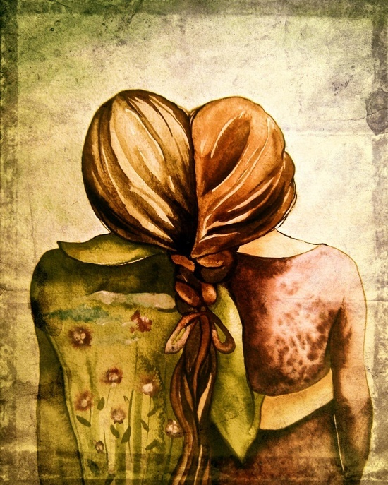 Love this sisters illustration.  Cute.  #sisters #fiction #bond #ebook #newadult #urban #supernatural #thriller www.coliloquy.com