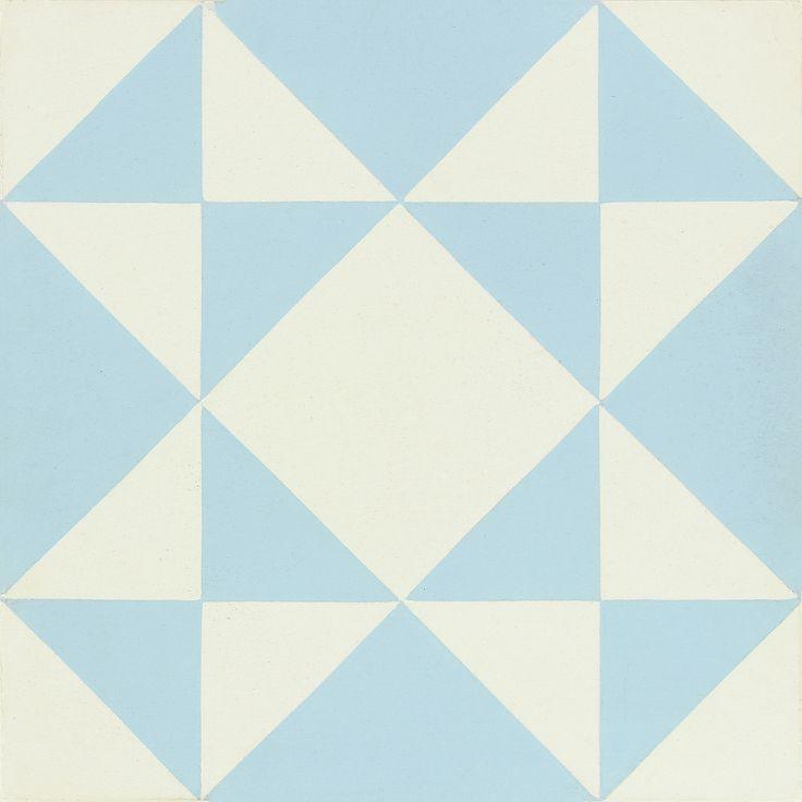 Carreau de ciment Belle époque décor alix bleu et blanc, l.20.0 x L.20.0 cm #leroymerlin #carreauxdeciment #carrelage #ideedeco #madecoamoi