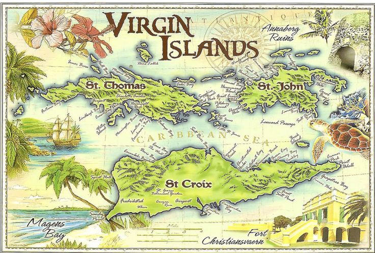 celebrating july 4th st john style 1979 virgin islands map