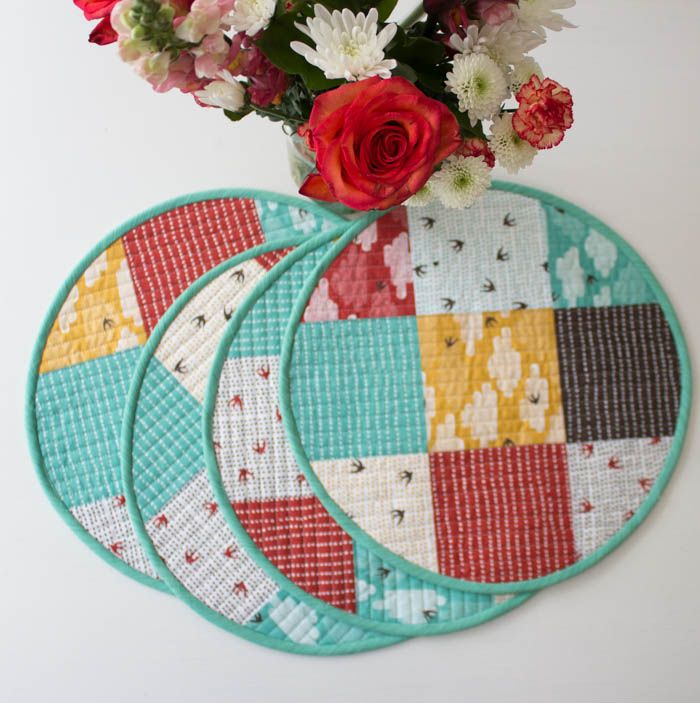 sewing: circular quilted placemats tutorial