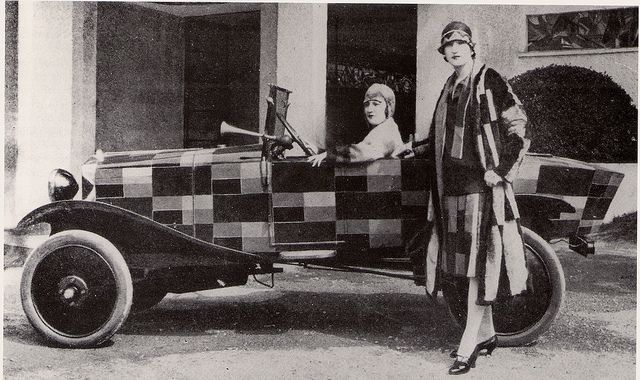 Sonia Delaunay And Matching Citroen, 1925 by glen.h, via Flickr