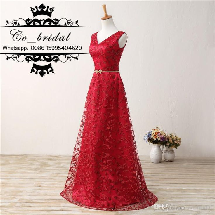 Sexy V Neck Red Formal Prom Dresses With Applique Lace Dress Evening Wear Luxury Backless Plus Size Cocktail Party Gowns Cheap Sale 2017 Cream Prom Dress Create Your Own Prom Dress From Cc_bridal, $51.22| Dhgate.Com